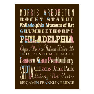 Endroits célèbres de Philadelphie, Pennsylvanie Carte Postale