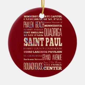 Endroits célèbres de Saint Paul, Minnesota Décoration Pour Sapin De Noël