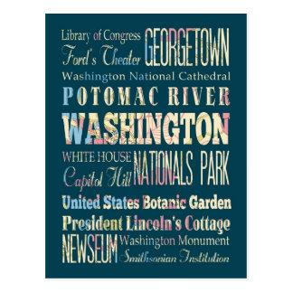 Endroits célèbres de Washington, secteur de la Cartes Postales