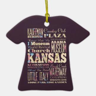 Endroits célèbres du Kansas, Etats-Unis. Ornement T-shirt En Céramique