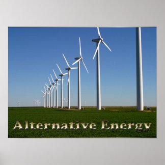 Énergie de substitution - l'énergie verte affiches