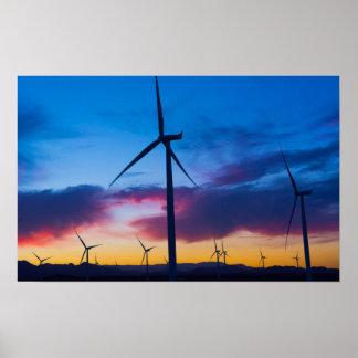 Énergie de vert d'énergie éolienne au central la poster