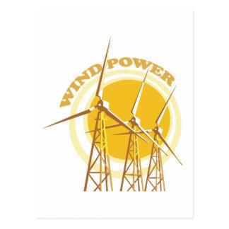 Énergie éolienne carte postale