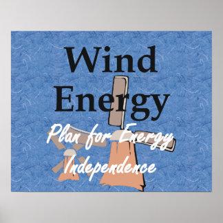 Énergie éolienne de PIÈCE EN T Affiche