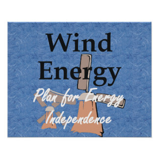 Énergie éolienne de PIÈCE EN T Affiches
