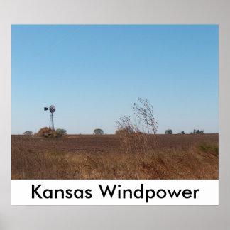 Énergie éolienne du Kansas Affiches