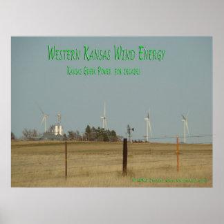 Énergie éolienne du Kansas Poster