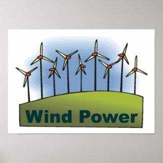Énergie éolienne affiches