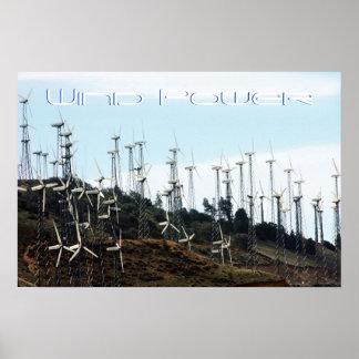Énergie éolienne poster
