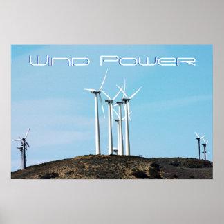 Énergie éolienne affiche