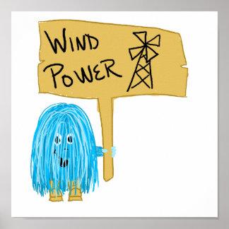 Énergie éolienne turquoise posters