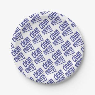 Énergie propre assiettes en papier