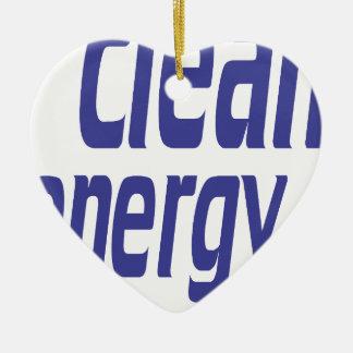 Énergie propre ornement cœur en céramique