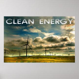 énergie propre poster