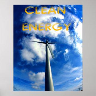 énergie propre affiche