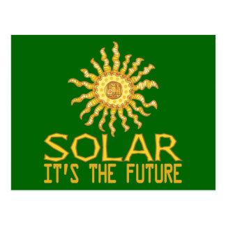 Énergie solaire carte postale