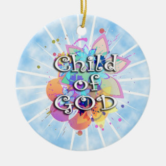 Enfant de Dieu, en pastel Ornement Rond En Céramique