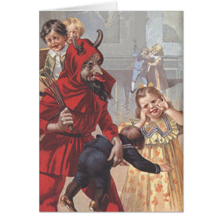 Enfant de fessée de Krampus Carte De Vœux