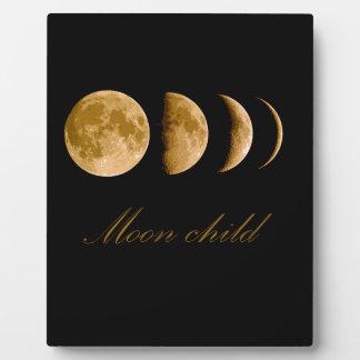 Enfant de lune plaque photo