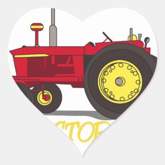Enfant de tracteur sticker cœur