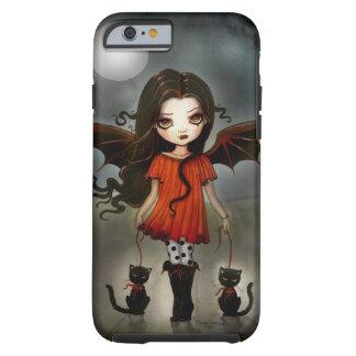 Enfant de vampire gothique de Halloween avec des Coque iPhone 6 Tough