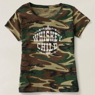 ENFANT de WHISKEY - T-shirt de Camo des femmes