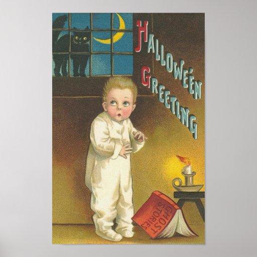 Enfant effray avec le chat dans la fen tre affiches zazzle for La fenetre san jose