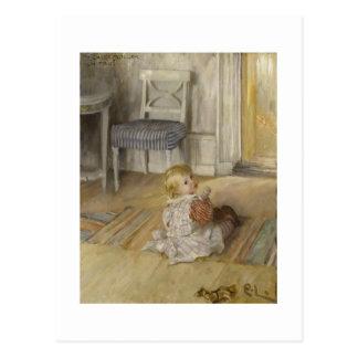 Enfant en bas âge dans une chasuble carte postale