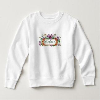 Enfant en bas âge violet vintage coloré sweatshirt