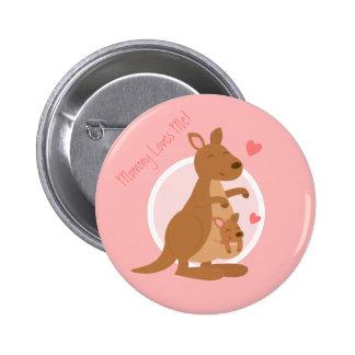 Enfant mignon de mère de Joey de bébé de kangourou Badge Rond 5 Cm