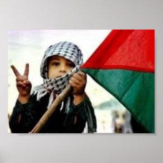 Enfant palestinien pour la paix posters
