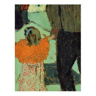 Enfant utilisant une écharpe rouge, C. 1891 Cartes Postales