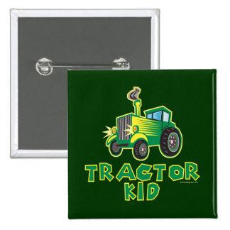 Enfant vert de tracteur pin's