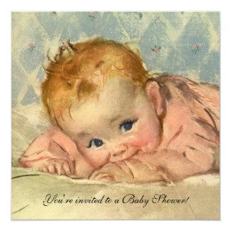Enfant vintage sur une couverture, invitation de