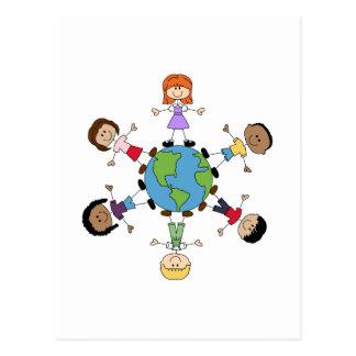 Enfants autour du monde carte postale