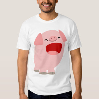 Enfants chanteurs de porc de bande dessinée t-shirts