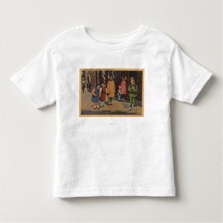 Enfants chinois dans Chinatown San Francisco, CA 2 T-shirt Pour Les Tous Petits