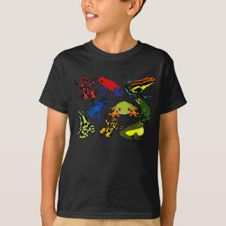Enfants colorés, grenouilles de dard de poison t-shirt