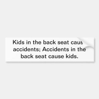 Enfants dans les accidents de cause de siège autocollant de voiture