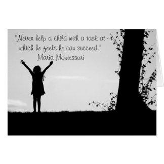 Enfants de aide de citation de Montessori Cartes