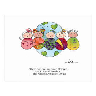 ENFANTS de carte postale avant avril McCallum du