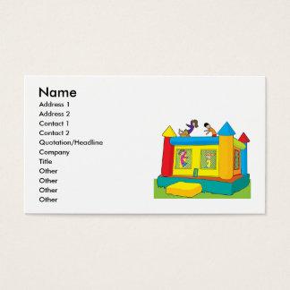 Enfants de château de rebond cartes de visite