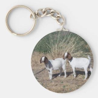 Enfants de chèvre de Boer Porte-clé Rond