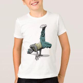 enfants de la pose 1 de danse de coupure t-shirt