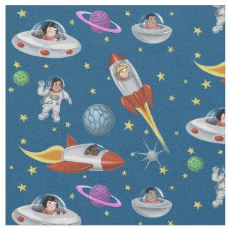 Enfants de l'espace du monde tissu