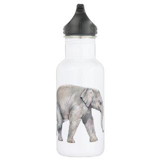 Enfants de mêmes parents d'éléphant asiatique bouteille d'eau en acier inoxydable