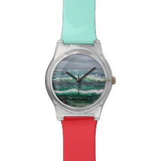 enfants de montre de vague de plage montres cadran