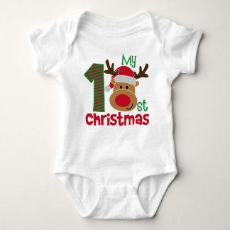 Enfants de Noël et T-shirt de bébé