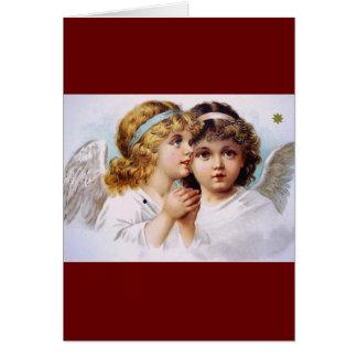 Enfants de prière d'anges carte de vœux