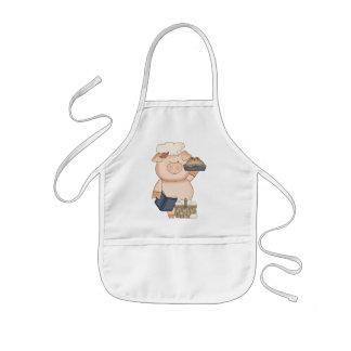 Enfants de tablier de porc de cuisson